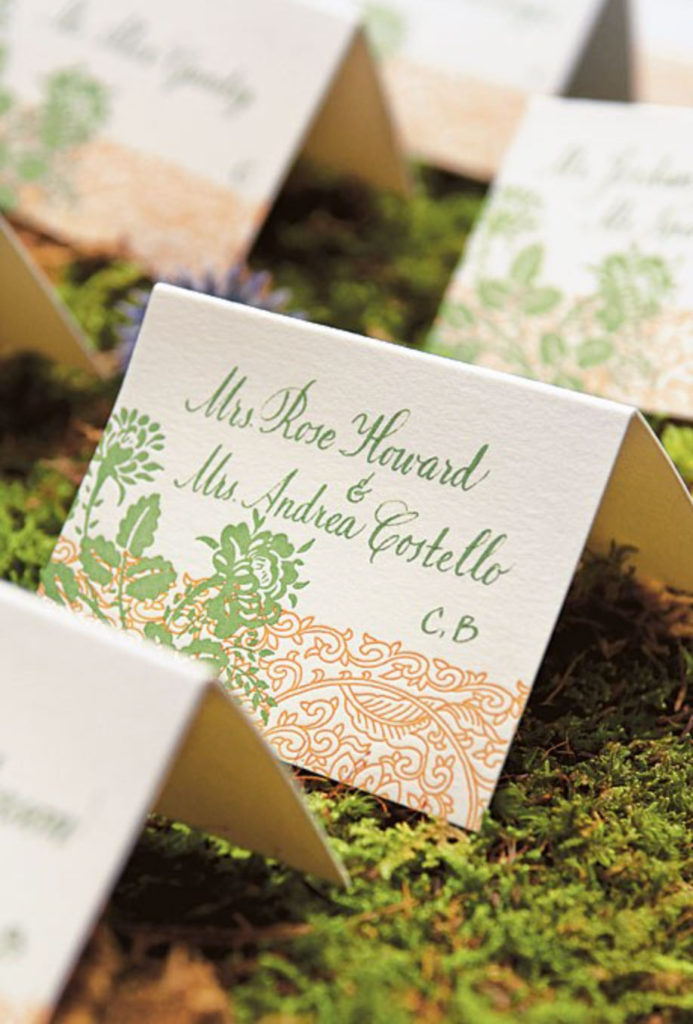 Place Card at a Whimsical Garden Wedding