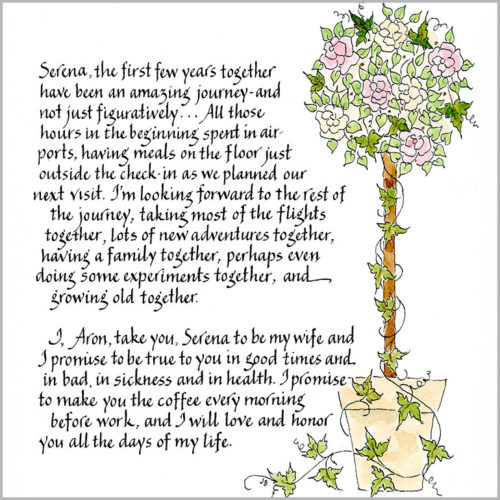 Jan Boyd - Wedding Vows/Certificates of Marriage