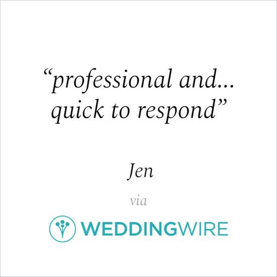 Kind Words - Jen via WeddingWire
