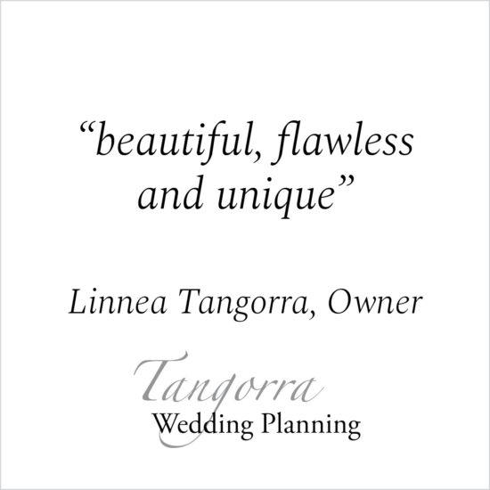 Kind Words - Linnea Tangorra, Owner - Tangorra Wedding Planning
