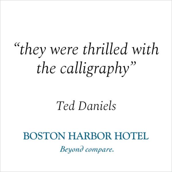 Jan Boyd - Testimonials - Kind Words - Boston Harbor Hotel