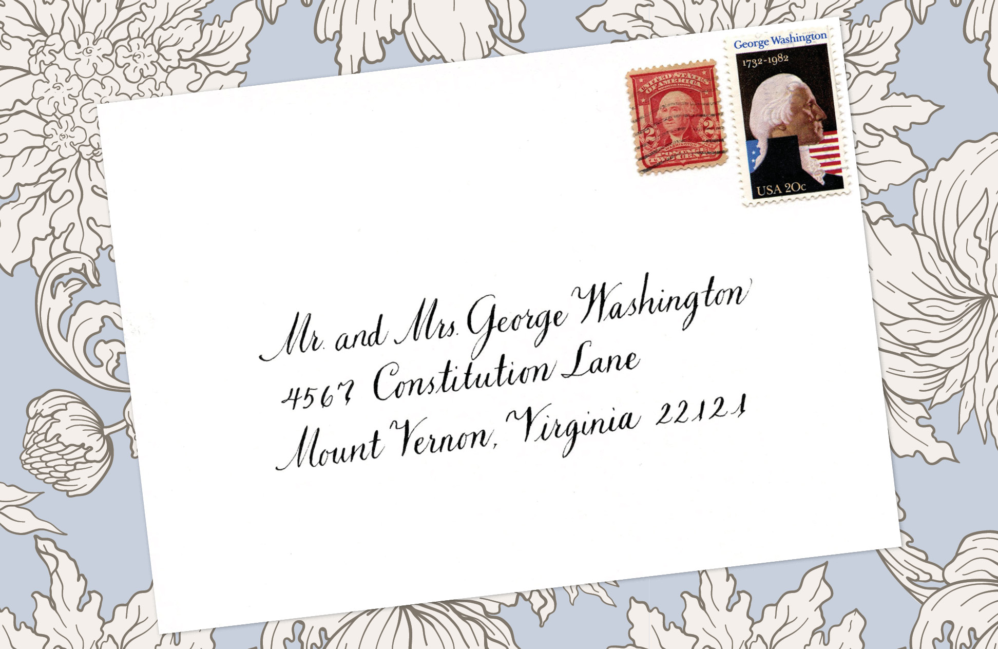 2. Style: Mr. and Mrs. George Washington (Venetian)