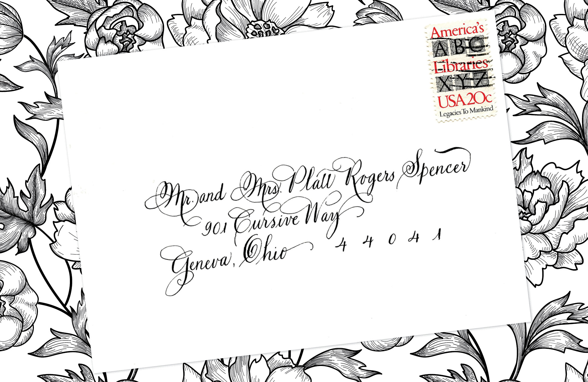 13. Style: Mr. and Mrs. Platt Rogers Spencer (Spencerian)