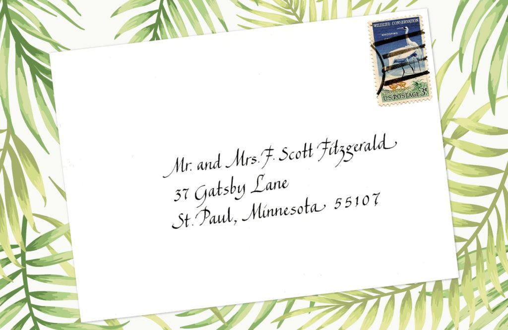 Style: Mr. and Mrs. F. Scott Fitzgerald (Chancery Italic)