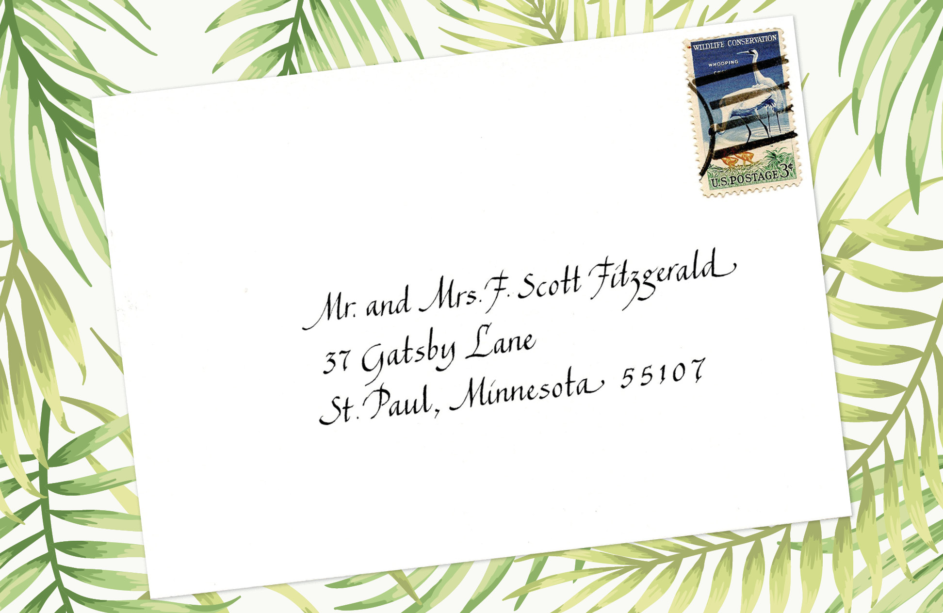 15. Style: Mr. and Mrs. F. Scott Fitzgerald (Chancery Italic)