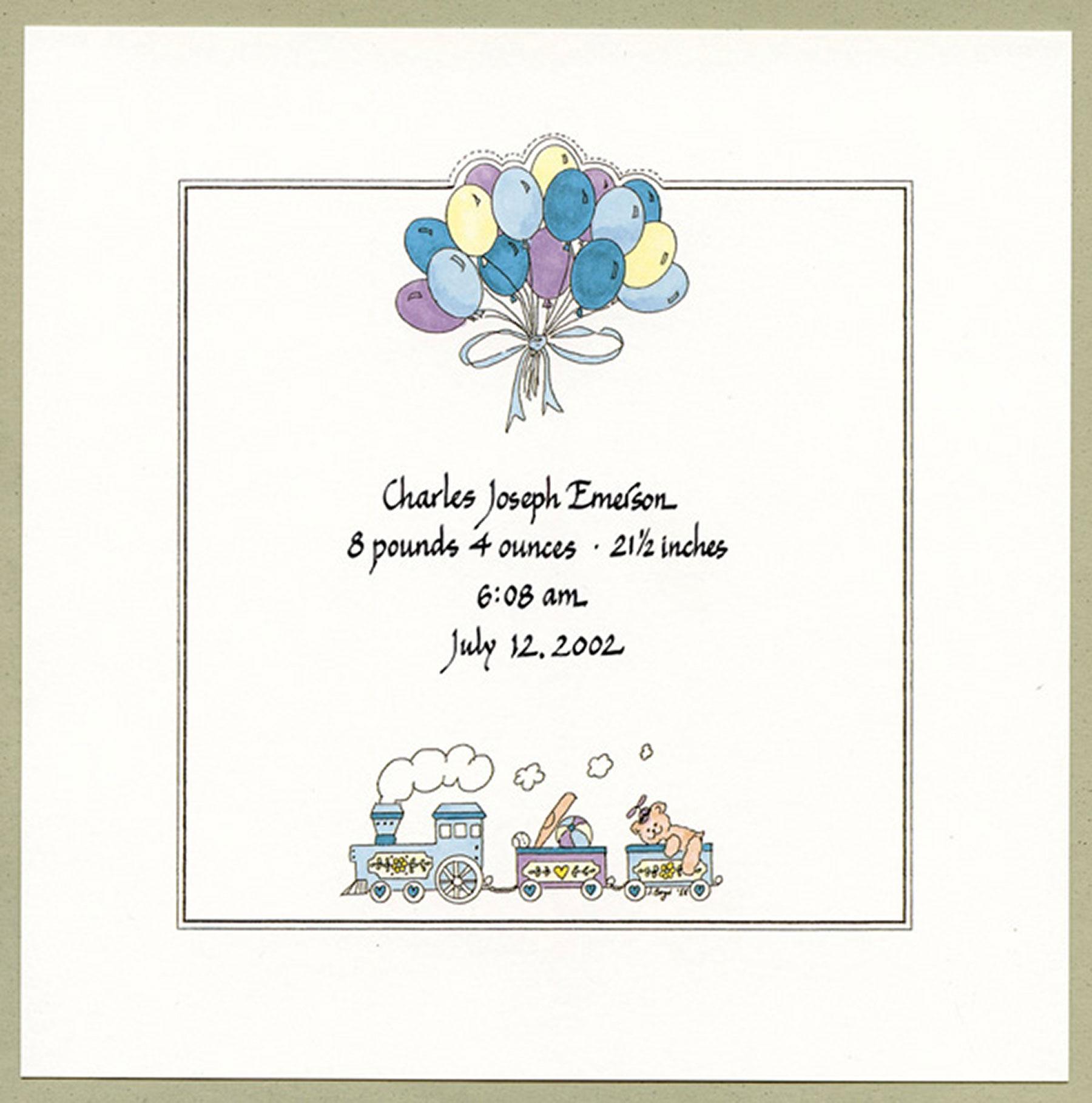 Jan Boyd - Birth Announcement