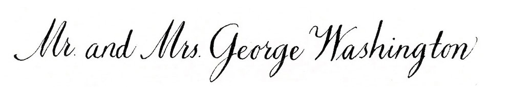2. Style: Mr. and Mrs. George Washington (Venetian)