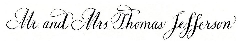 9. Style: Mr. and Mrs. Thomas Jefferson (Jefferson)