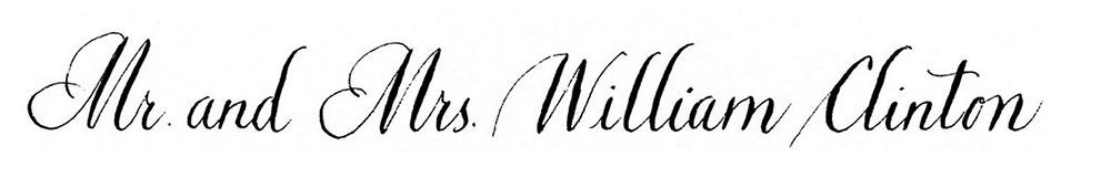 10. Style: Mr. and Mrs. William Clinton (Bickham)