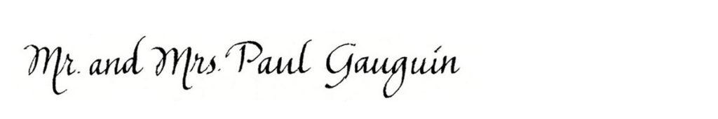 14. Style: Mr. and Mrs. Paul Gauguin (Gauguin)