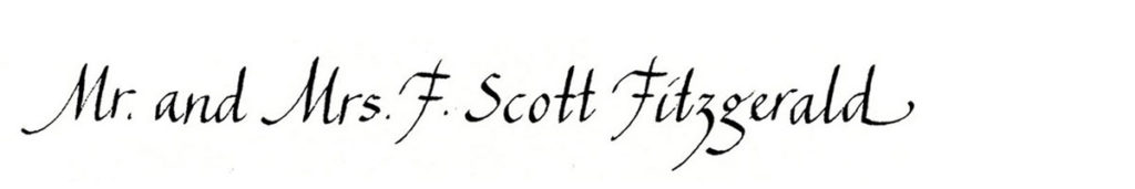 15. Style: Mr. and Mrs. F. Scott Fitzgerald (Chancery Italic)