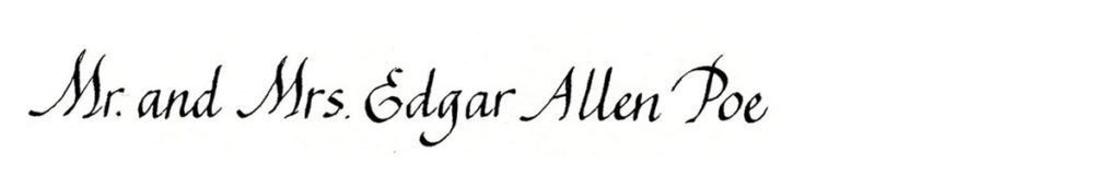 19. Style: Mr. and Mrs. Edgar Allen Poe (Penman)