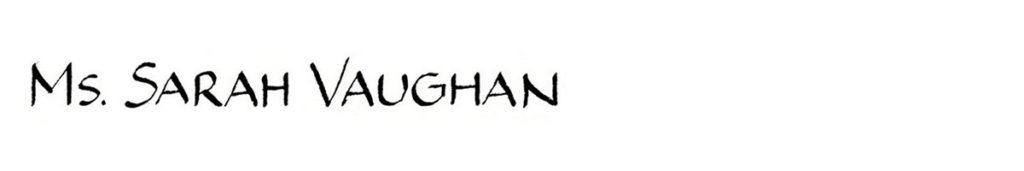 25. Style: Ms. Sarah Vaughan (Piegnot)