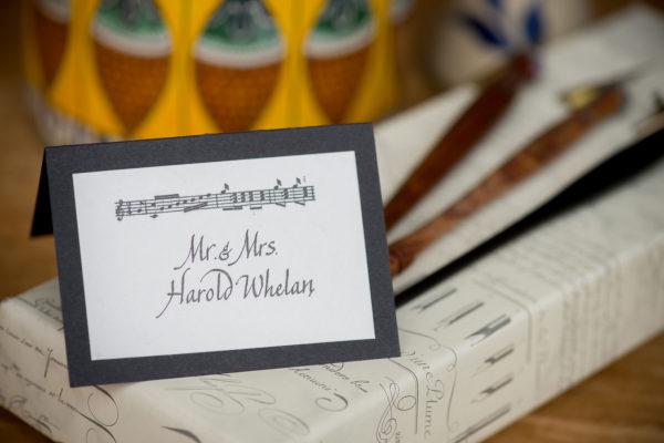 Jan Boyd - Wedding Place Card Escort Card - Johnson Photography
