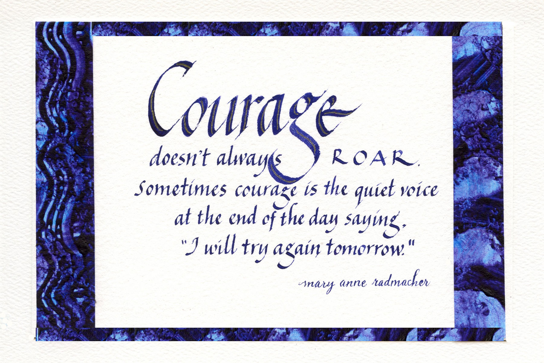 Jan Boyd Quote - Courage
