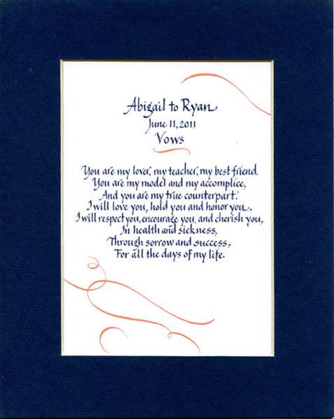 Jan Boyd - Wedding Vows