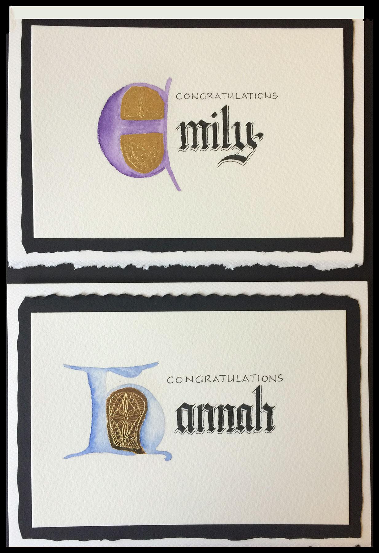 Jan Boyd Calligraphy - Emily & Hannah