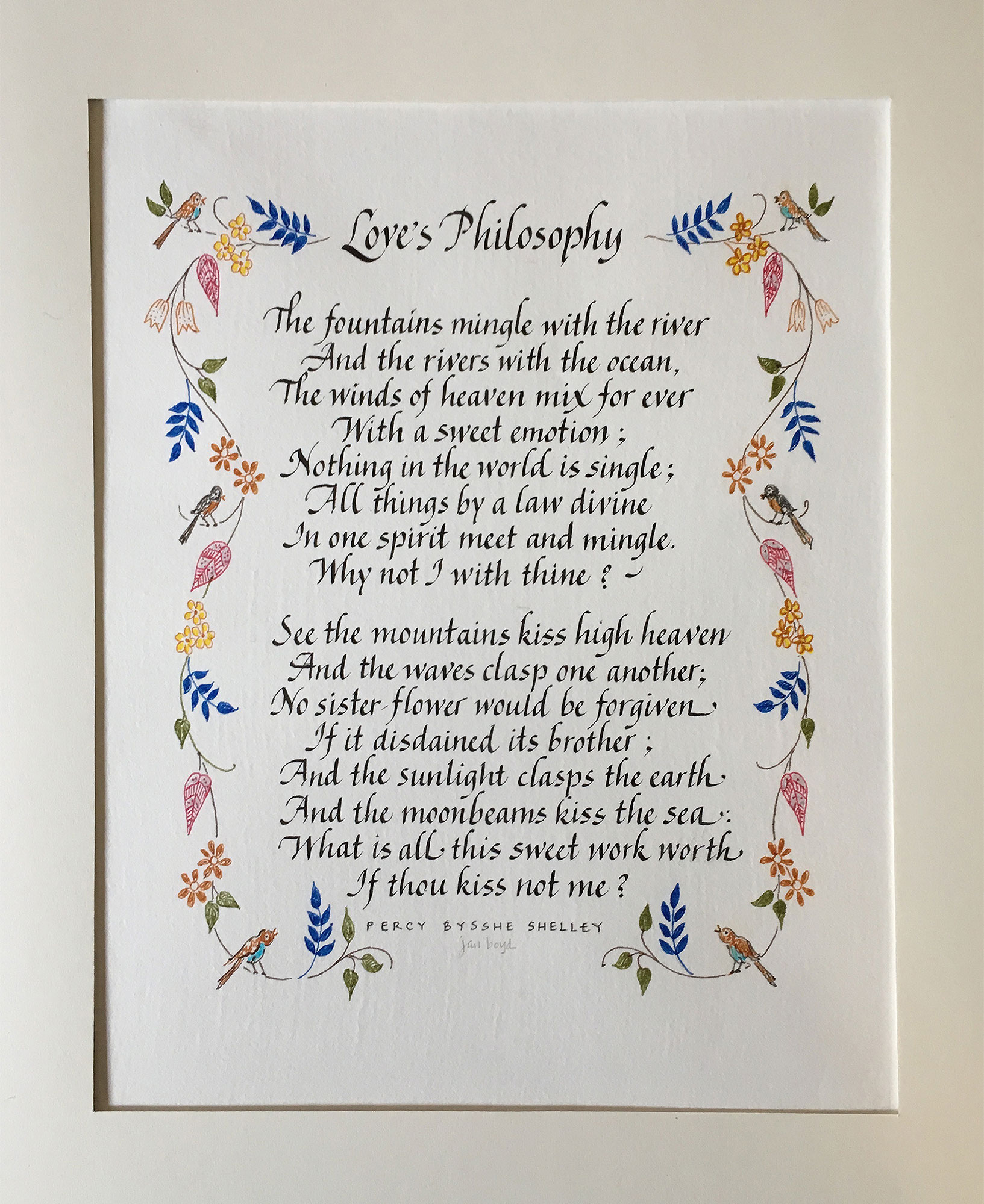 Jan Boyd - Poem - Love's Philosophy