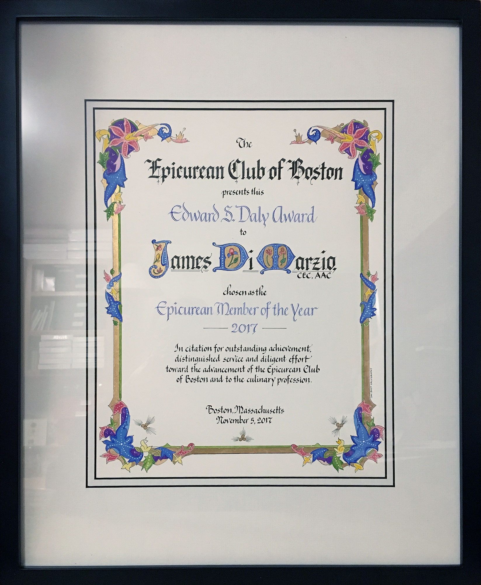 Jan Boyd Calligraphy - Award/Certificate
