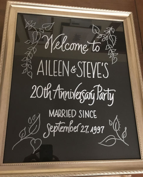 Jan Boyd Calligraphy - Event Signs